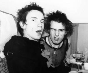 Sid Vicious et Johhny Rotten