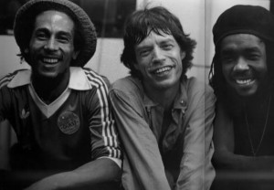 Bob Marley Mick Jagger & PeterTosh