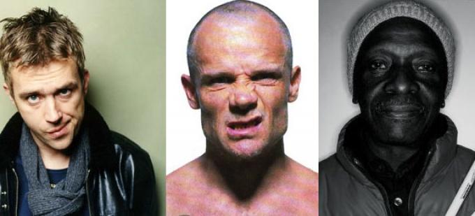 Damon Albarn, Flea, Tony Allen - © D.R