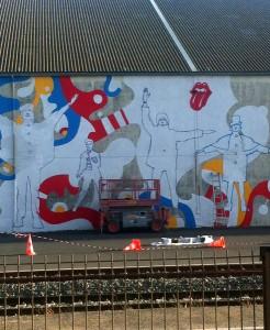 Jean Moderne - Travail en cours pour la fresque de La Sirène