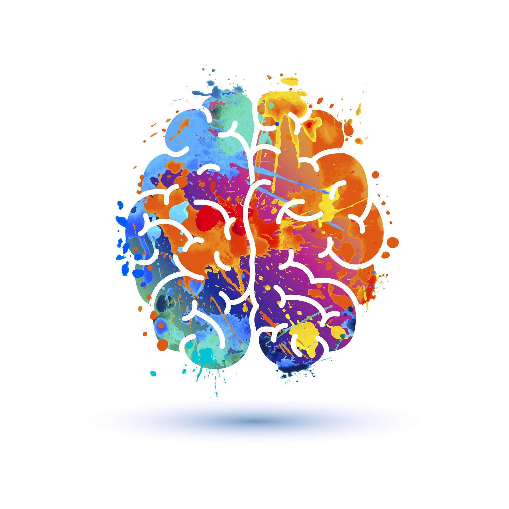Illustration de la musique au niveau du cerveau
