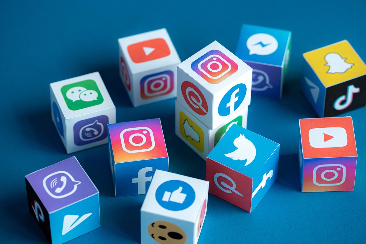Les logo des différents réseaux sociaux